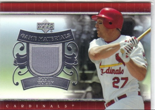 Photo of 2007 Upper Deck UD Game Materials #SR Scott Rolen Jsy S1