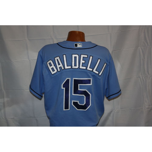 Photo of Rocco Baldelli Opening Day Game-Used Jersey
