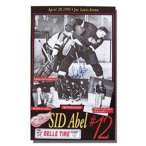 Sid Abel (deceased) Autographed Detroit Red Wings Poster