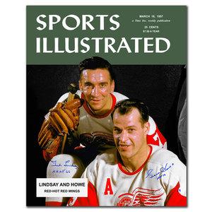 Gordie Howe & Ted Lindsay SI Dual Autographed 16x20 LTD /9