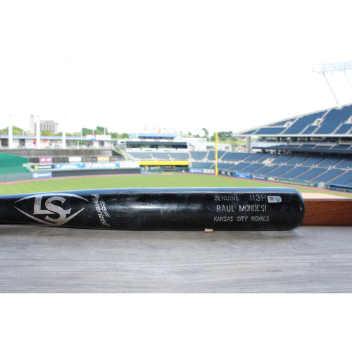 Photo of Game-Used Raul Mondesi Broken Bat (4/18/17 SF @ KC)