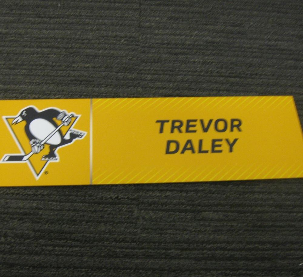 Trevor Daley 2017 Stanley Cup Final Media Name Plate - Pittsburgh Penguins