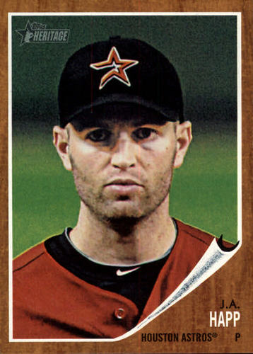 Photo of 2011 Topps Heritage #177 J.A. Happ