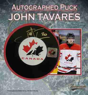 John Tavares - Signed Team Canada Puck
