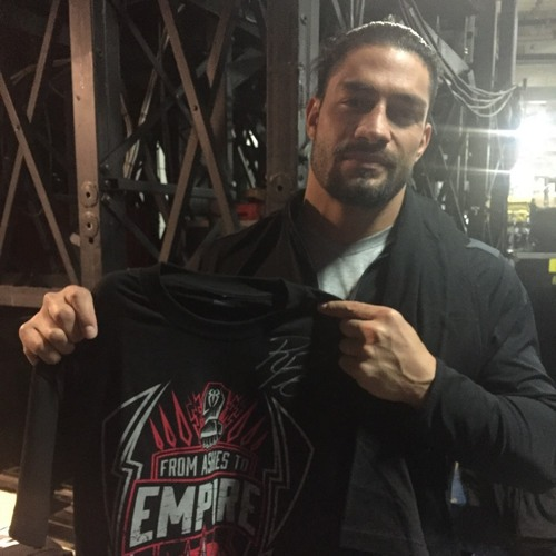 Photo of Roman Reigns SIGNED Authentic T-Shirt (Size M)