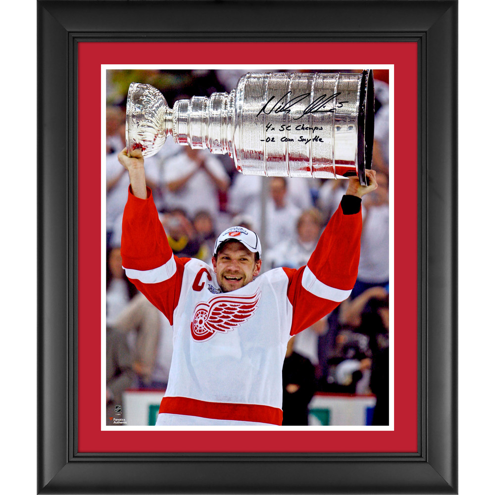 Nicklas Lidstrom Detroit Red Wings Framed Autographed 16