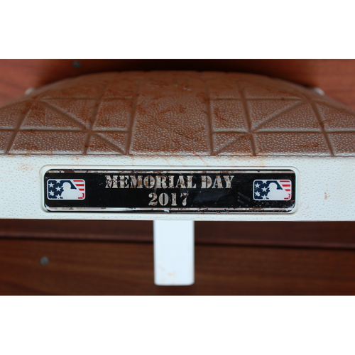 Photo of Game-Used 3rd Base Innings 6-9 (Eric Hosmer Two Run Home Run) (DET at KC 5/29/17)