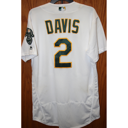 """Photo of Khris Davis Game-Used """"Atleticos"""" Jersey - HR #41, 2 RBI"""