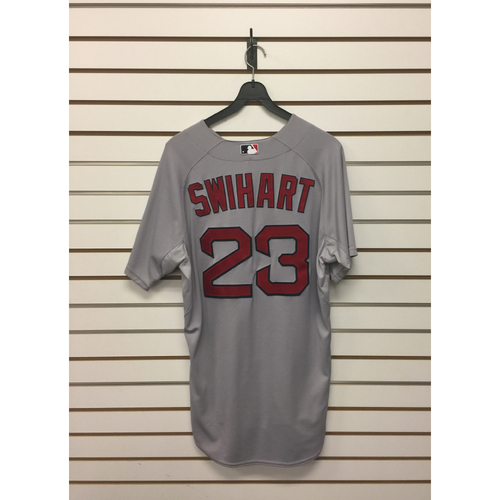 Blake Swihart Game-Used September 14, 2015 Road Jersey