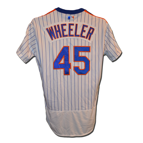 Photo of Zack Wheeler #45 - Team Issued 1986 Throwback Jersey - 2016 Season