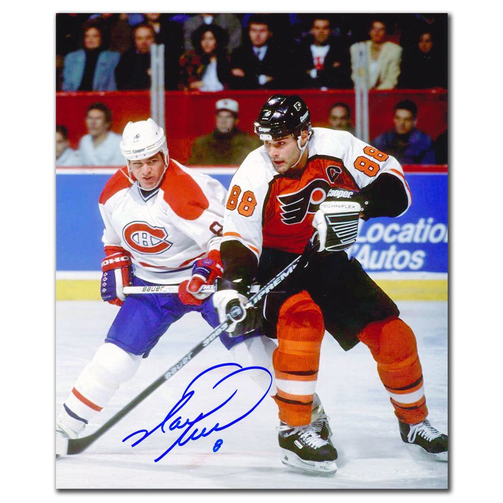 Mark Recchi Montreal Canadiens vs. Eric Lindros Autographed 8x10