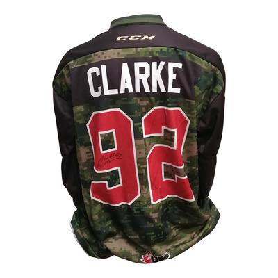#92 Graeme Clarke 67's Game Worn Army Theme Jersey