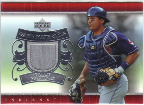 Photo of 2007 Upper Deck UD Game Materials #VM Victor Martinez Jsy S1
