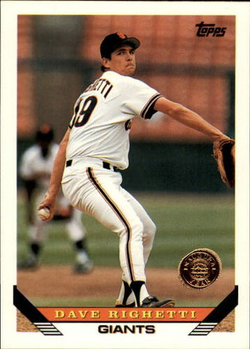 Photo of 1993 Topps Inaugural Rockies #310 Dave Righetti
