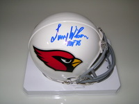 HOF - CARDINALS LARRY WILSON SIGNED CARDINALS MINI HELMET
