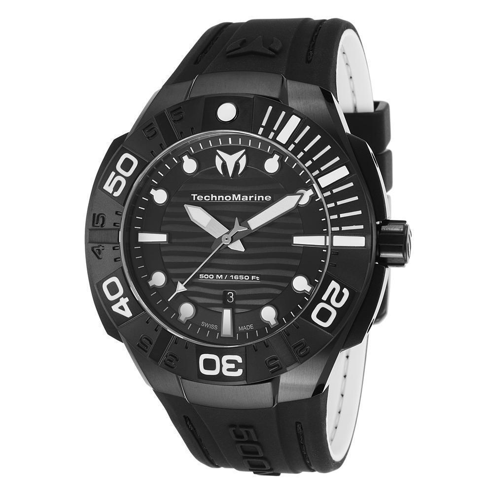 TechnoMarine Black Reef Swiss Quartz Analog Men's Watch  513003