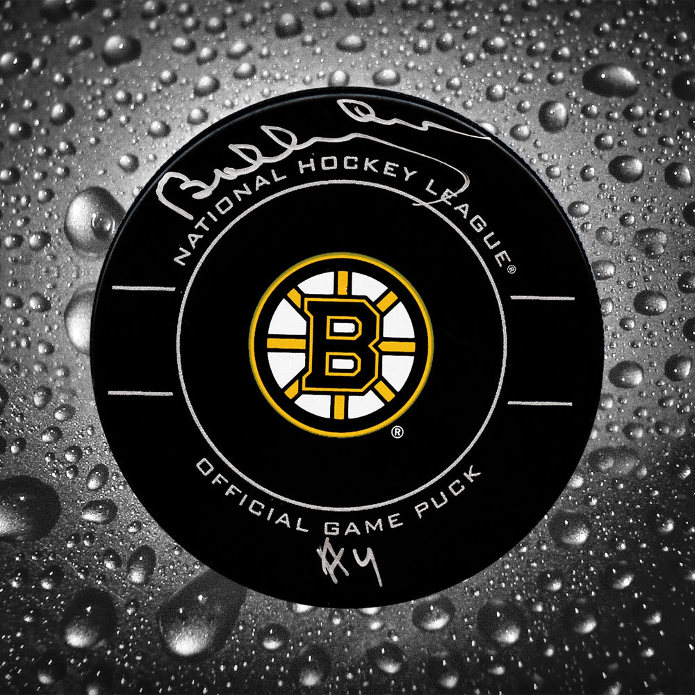 Bobby Orr Boston Bruins GNR COA Autographed Official Game Puck