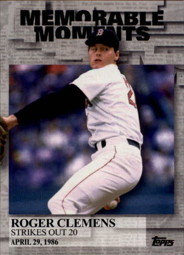 Photo of 2017 Topps Memorable Moments #MM5 Roger Clemens