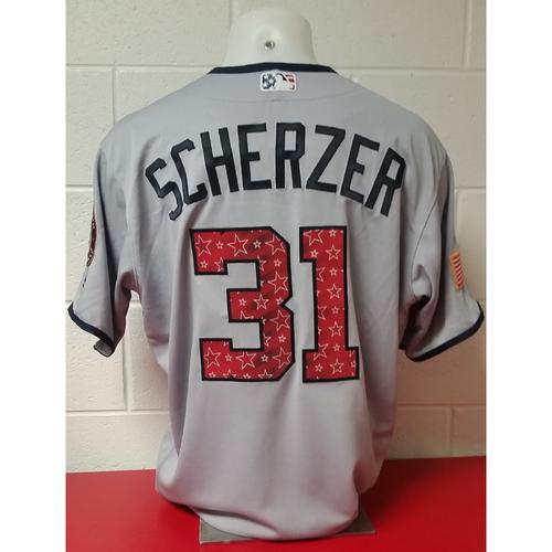 Photo of Game-Used Jersey: Max Scherzer