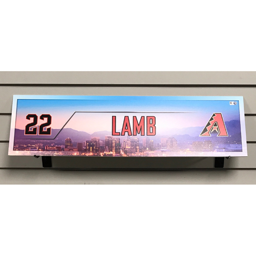 Jake Lamb Game-Used 2017 Nameplate