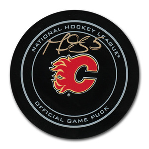 Mark Giordano Autographed Calgary Flames Official Game Puck