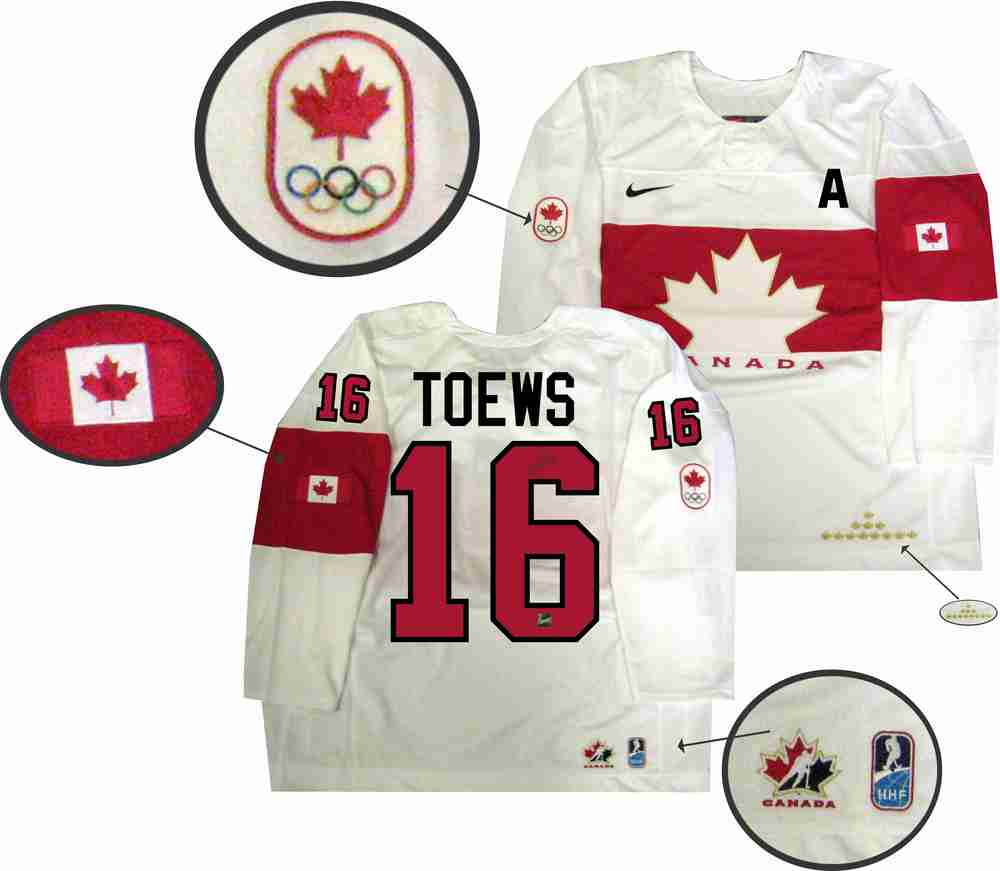 Jonathan Toews - Signed Team Canada White 2014 Olympics Jersey