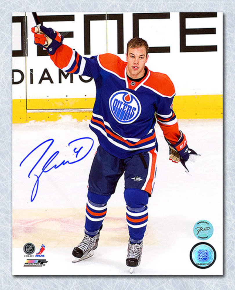 Taylor Hall Edmonton Oilers Autographed 1st Star Salute 8x10 Photo