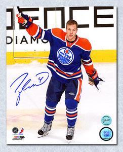 Taylor Hall Edmonton Oilers Autographed 1st Star Salute 8x10 Photo