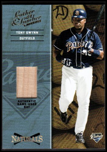 Photo of 2004 Leather and Lumber Naturals Bat #8 Tony Gwynn/250