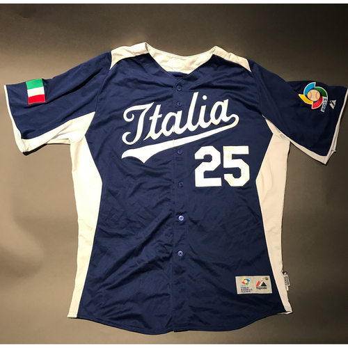 Photo of 2013 World Baseball Classic Jersey - Italy Jersey, Chris Colabello #25