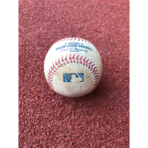 Photo of Game-Used Baseball - Welington Castillo Hit by Pitch vs. Robert Whalen