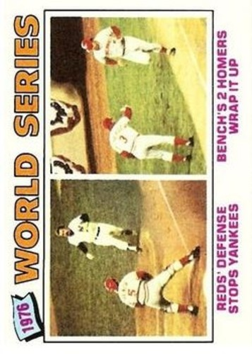 Photo of 1977 Topps #412 World Series/Johnny Bench