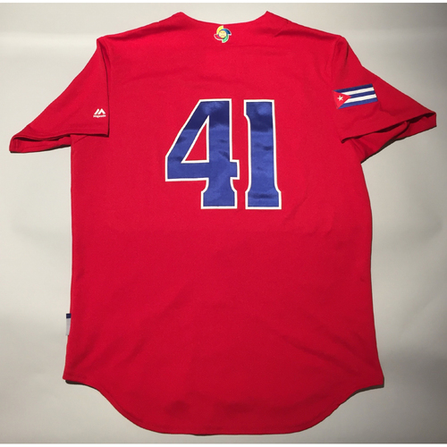 2017 WBC: Cuba Game-Used Batting Practice Jersey, #41