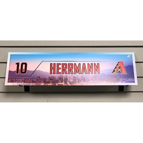 Chris Herrmann Game-Used 2017 Nameplate