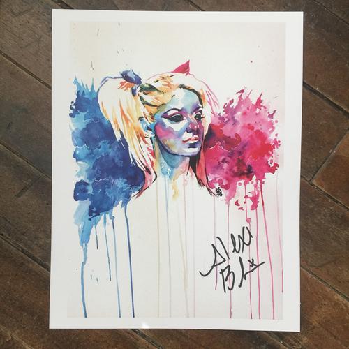 Alexa Bliss SIGNED 11 x 14 Rob Schamberger Print