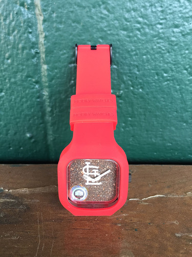 Photo of Busch Stadium Dirt Watch - Red