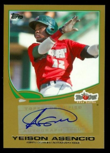 Photo of 2013 Topps Pro Debut Autographs Gold #YA Yeison Asencio