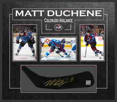 Matt Duchene - Signed & Framed Stick Blade - Featuring Coloardo Avalanche Photo Collection