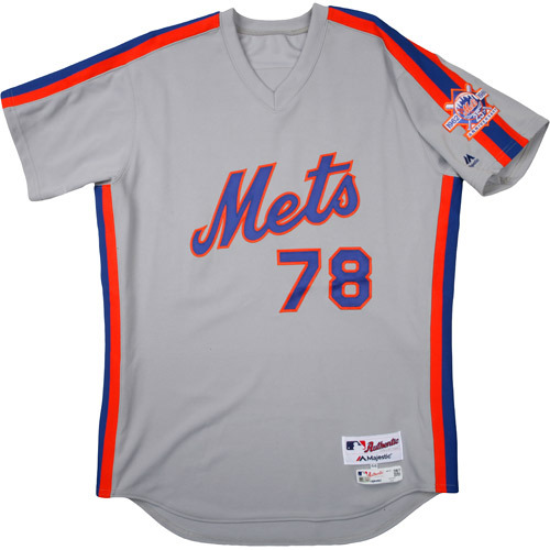 Photo of New York Mets 1986 Throwback Complete Game-Used Uniform Set - Eric Langill