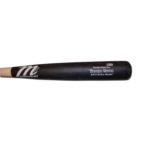 Photo of Brandon Nimmo #9 - Game Used Bat - Black and Beige Marucci Model - Mets vs. Phillies - 7/16/16