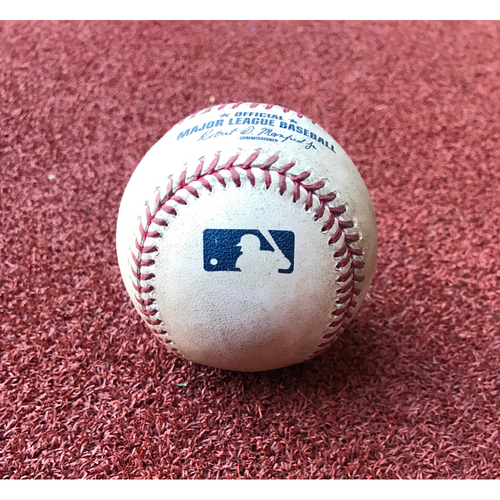 Photo of Game-Used Baseball - Patrick Corbin Strikeout vs. Rob Segedin