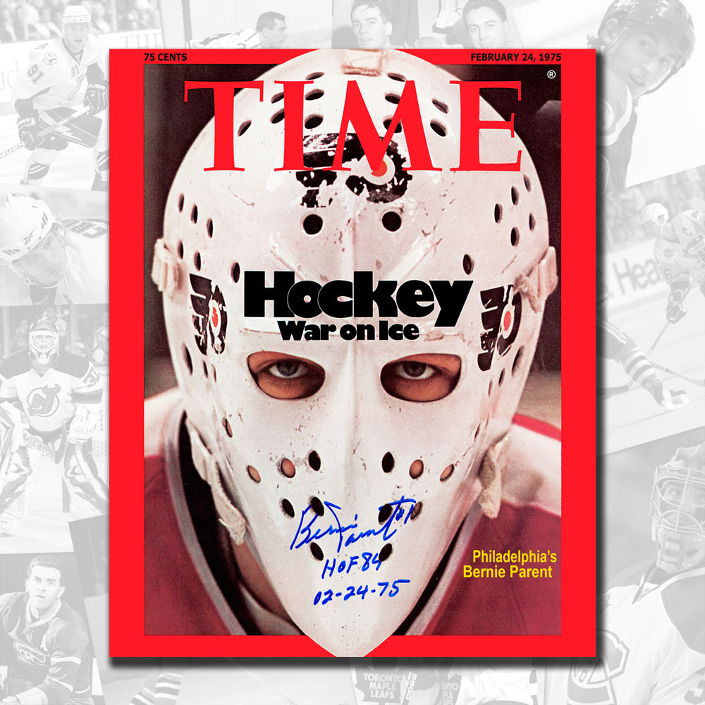 Bernie Parent Philadelphia Flyers Time Magazine 02-24-75 Signed 8x10