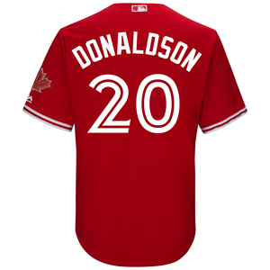 Toronto Blue Jays Youth Josh Donaldson CB Alt Red Screen Print Jersey by Majestic