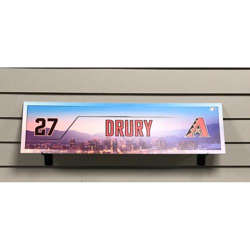 Brandon Drury Game-Used 2017 Nameplate