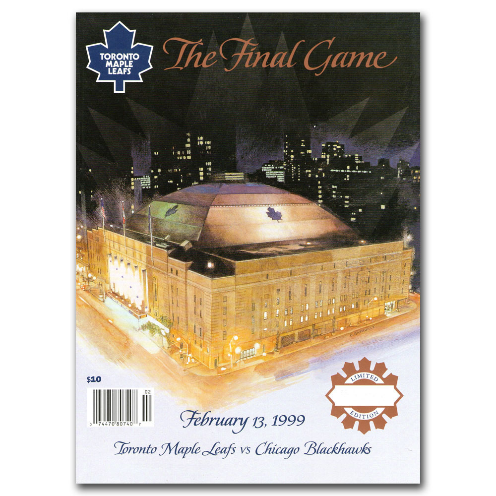Maple Leaf Gardens Limited-Edition Final Game Program (Toronto Maple Leafs)