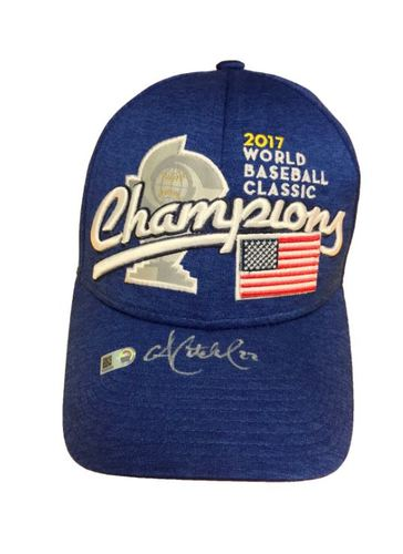 Photo of Andrew McCutchen Autographed 2017 WBC Champions Hat