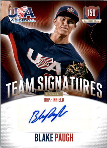 Photo of 2014 USA Baseball 15U National Team Signatures #65 Blake Paugh