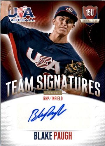 Photo of 2014 USA Baseball 15U National Team Signatures #65 Blake Paugh