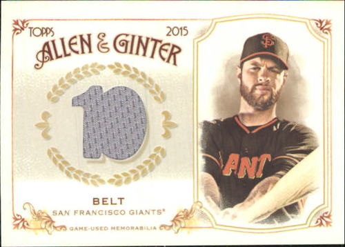 Photo of 2015 Topps Allen and Ginter Relics #FSRBBB Brandon Belt B