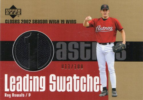 Photo of 2003 Upper Deck Leading Swatches Gold #RO Roy Oswalt WIN